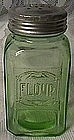 Hazel Atlas Green Embossed Flour Shaker