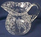 Cambridge Rose Point Crystal Daulton Pitcher