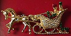 Horse and Carriage Christmas Pin