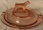Pink Dog Ashtray