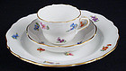 Antique Meissen 3 Piece Demitasse Cup & Saucer