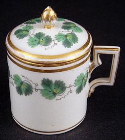 Antique Royal Vienna Pot de Crème Cup with Lid