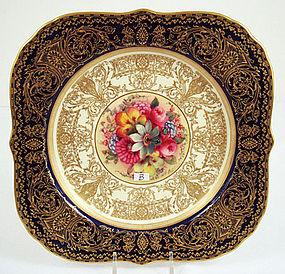 Royal Worcester Artist Signed Cabinet Plate
