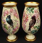 Exquisite Antique Pair of Paris Porcelain Vases