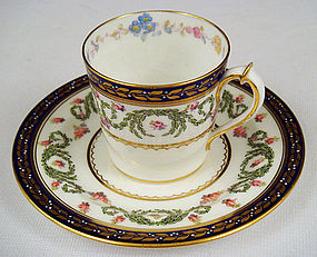 Elegant Royal Crown Derby Demitasse Cup & Saucer