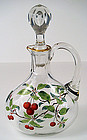 Antique Bohemian Enameled Decanter
