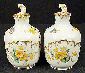 Pair of Antique Lamm Dresden Perfume Bottles