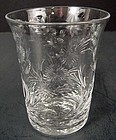 12 English Engraved Crystal Juice Glasses
