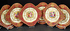 6 Antique Royal Worcester Luncheon Plates