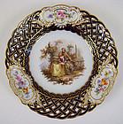 Antique Meissen Scenic Cabinet Plate