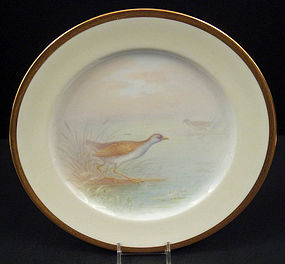 Fabulous Antique Lenox Cabinet Plate, �Rail� Bird