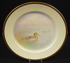 Fabulous Antique Lenox Cabinet Plate, �Teal Duck�