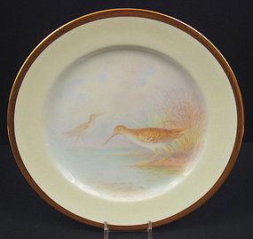 Fabulous Antique Lenox Cabinet Plate, �Snipe Bird�