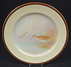 Fabulous Antique Lenox Cabinet Plate, �Snipe Bird�