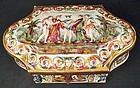 Antique Capodimonte Porcelain Jewel Casket