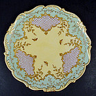 Fine Antique Jeweled Coalport Cabinet Plate