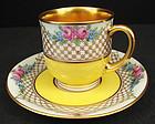 Cheerful Antique Dresden Demitasse Cup & Saucer