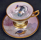 Lovely Antique Lamm Dresden Demitasse Cup & Saucer