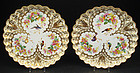 Wonderful Pair of Antique Copeland Hand Painted Plates