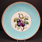 Unusual Antique Mintons Cabinet Plate with Plums