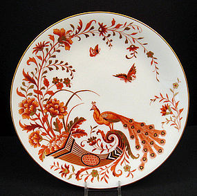 8 Antique Mintons Decorative Plates with Peacocks