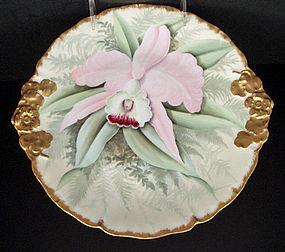 Lovely Antique Limoges Orchid Serving Dish