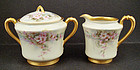 Antique Haviland Limoges Sugar Bowl & Cream Pitcher