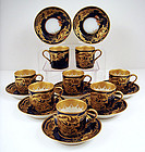 8 Fabulous Haviland Limoges Cobalt Cups & Saucers