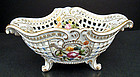Fine Antique Dresden Reticulated Center Piece Bowl