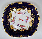 Antique English Cobalt Blue Serving Platter