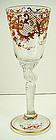 Antique Bohemian Wine Glass with Twisted Stem