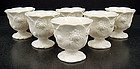6 Antique Minton Parian Egg Cups