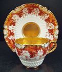 Elegant Antique Coalport Tea Cup & Saucer