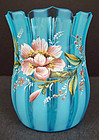 Charming Victorian Enameled Art Glass Vase