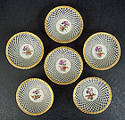 6 Antique Schierholz Dresden Nut Baskets