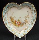 Antique Doulton Burslem Heart Shaped Dish
