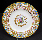 Exquisite Antique English Plate, Sevres Style