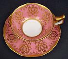 Fancy Antique Cauldon England Tea Cup & Saucer