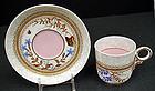 Antique Royal Worcester Demitasse Cup & Saucer, Butterf