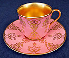 Antique Coalport for Tiffany Demitasse Cup & Saucer