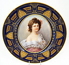 Lovely Antique Royal Vienna Portrait Plate, Signed