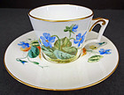 Unique Antique Brownfield Trembleuse Tea Cup & Saucer