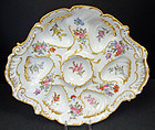 Wonderful Antique Paris Porcelain Oyster Plate