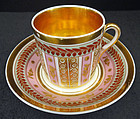 Fine Antique Paris Porcelain Tea Cup & Saucer