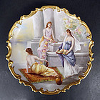 Antique Flambeau Limoges Scenic Charger or Wall Plaque