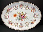 Exquisite Antique Hirsch Dresden Oval Platter B