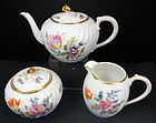 Lovely Antique Nymphenburg 3 Pc. Tea Set