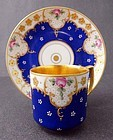 Adorable Antique Dresden Demitasse Cup & Saucer