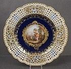 Outstanding Antique Meissen Reticulated Cabinet Plate