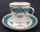Antique Minton Sevres Style Tea Cup & Saucer